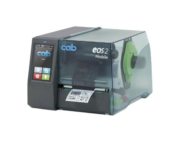 Esta é a Impressora CAB Eos. É uma das impressoras de etiquetas térmicas e não térmicas, que servem como impressoras de códigos de barras e outras informações em etiquetas.