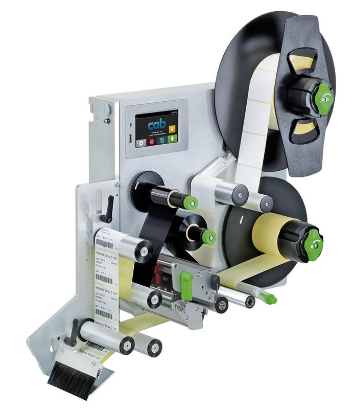 Impressora CAB Hermes, uma impressora aplicadora industrial, robusta e precisa