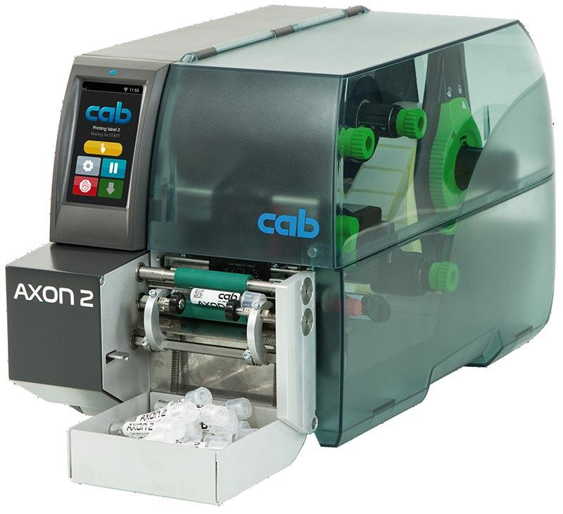 Impressora de etiquetas para identificar tubos de coleta